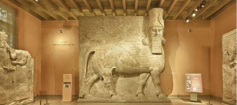 Il museo archeologico di Mosul, in Iraq, prima della distruzione da parte dell'Is