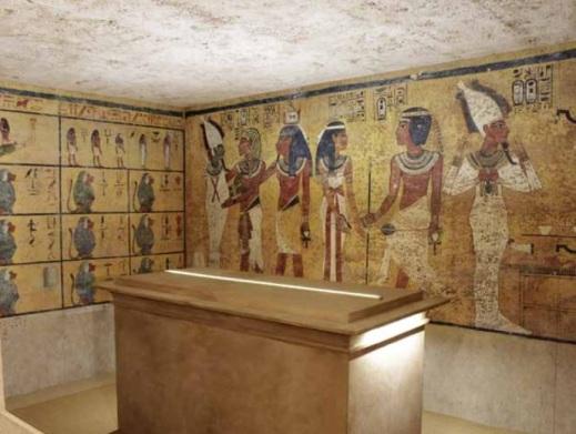 """La ricostruzione della camera funeraria di Tutankhamon in scala 1:1 in esclusiva nella mostra """"Omaggio a Tutankhamon"""" a Oderzo"""
