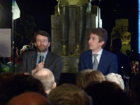 Il ministro per i Beni culturali Dario Franceschini e il direttore dell'Egizio Christian Greco