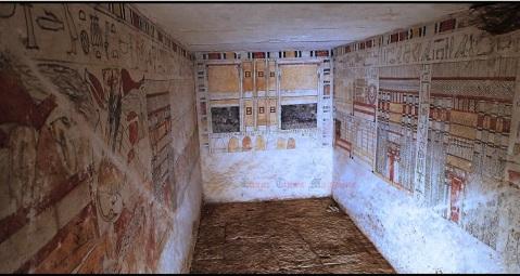 La tomba del sacerdote Ankhti, trovata nella necropoli di Saqqara: visse sotto il faraone Pepi II (VI dinastia)