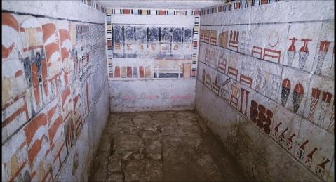 La tomba del sacerdote Sa Bi, trovata nella necropoli di Saqqara: visse sotto il faraone Pepi II (VI dinastia)