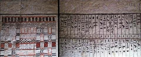 Intensi i colori anche nelle raffigurazioni della tomba del sacerdote Sa Bi, trovata nella necropoli di Saqqara
