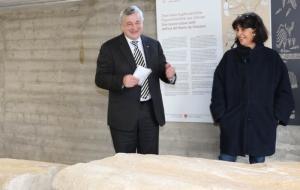 L'assessore Mussner e la direttrice dell'ufficio Beni archeologici Catrin Marzoli