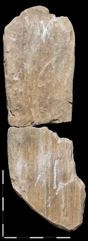 La stele di Vezzano con raffigurazione di un guerriero con le sue armi: pugnale e ascia