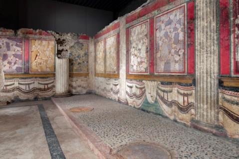 Le pareti affrescate della cella di età repubblicana all'interno del Capitolium di Brescia