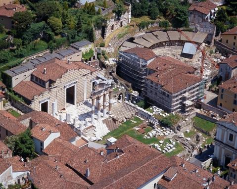 Il monumentale foro della romana Brixia collegato al museo di Santa Giulia