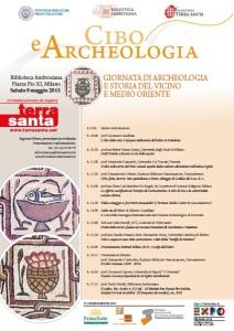 """La locandina della giornata di studio su """"Cibo e archeologia"""""""