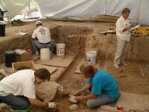 Gli archeologi israeliani al lavoro a tell Halif
