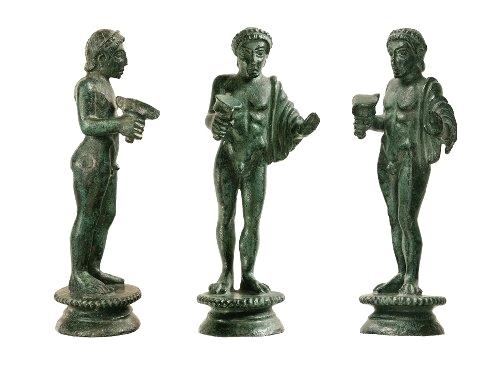 Il dio del vino Fufluns, bronzetto trovato a Sasso Marconi, testimonial della mostra a Marzabotto