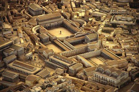 Il plastico del complesso del Foro di Traiano conservato al museo della Civiltà Romana