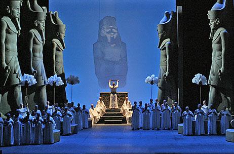 """La rappresentazione di Aida per la trasmissione """"Stanotte al museo Egizio"""" di Alberto Angela"""