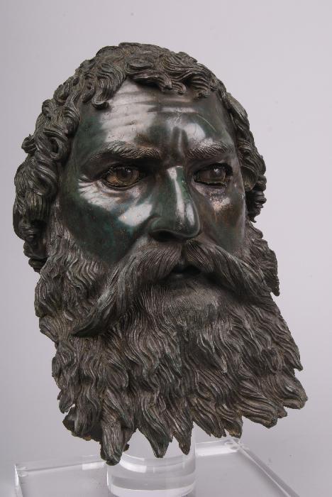 L'eccezionale testa-ritratto di re Seute III scoperta nel 2004: è uno dei pezzi più preziosi in mostra