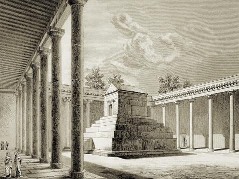 La Tomba di Ciro quando era stata trasformata in luogo di culto islamico