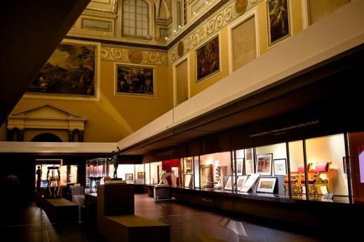 """La Sala della Merdiana del Museo Archeologico di Napoli, dove è allestita la mostra """"Pompei e L'Europa 1748-1943"""" (foto Anna Monaco)"""