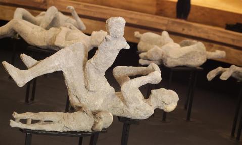 I calchi realizzati a partire da quelli di Giuseppe Fiorelli, vengono presentati per la prima volta al pubblico dopo il recente restauro della soprintendenza