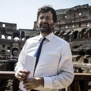 Il ministro Dario Franceschini  al Colosseo