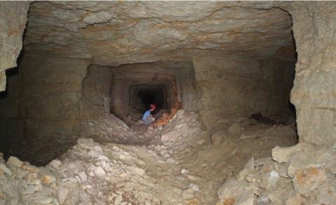 La galleria dove sonos tate trovate le mummie di cani nella necropoli di Saqqara