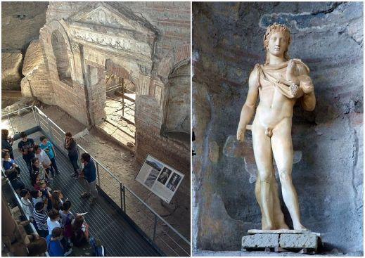 Le sculture rinvenute nella villa di Somma Vesuviana oggi sono al museo archeologico di Nola