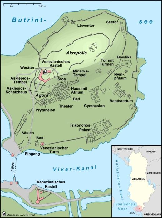 La mappa del sito archeologico di Butrinto dove da settembre torna l'università di Bologna