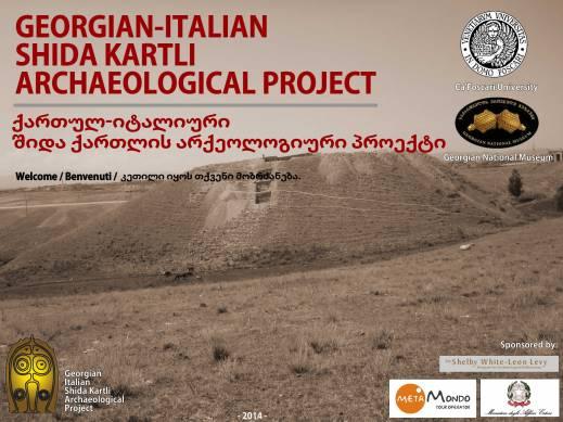 La missione archeologica congiunta università Ca' Foscari e museo nazionale Georgiano a Shida Kartli in Georgia attiva dal 2009