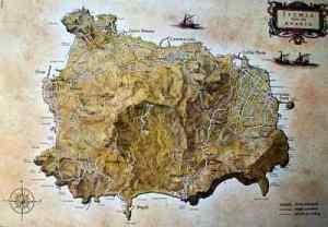 La mappa dell'isola d'Ischia, l'antica Pithecusae
