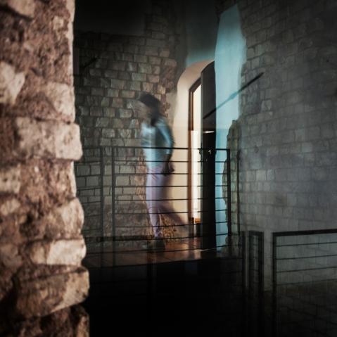 Fotografia  di Marco Zorzanello  che collega il passato e il presente del Teatro Berga di Vicenza