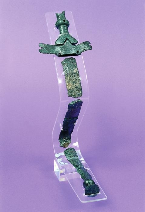 Una spada piegata ritualmente dalla necropoli di Brezec di San Canzian