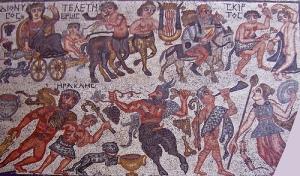 Un mosaico conservato nel museo regionale di Ismailia