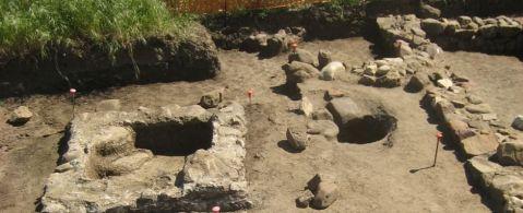 L'insediamento della fattoria romana insiste su un'area già frequentata in età preistorica