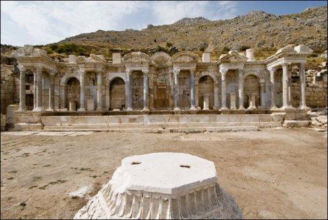 La città di Sagalassos in Turchia, ultima città romana dell'impero d'Oriente, governata da Costantinopoli