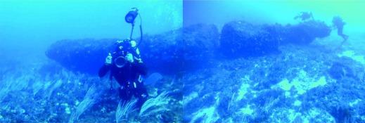 Il monolito lungo 12 metri trovato a 40 metri di profondità nel Canale di Sicilia