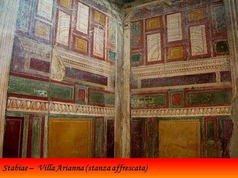 Un grande ambiente affrescato di villa Arianna, la più antica villa d'otium di Stabiae