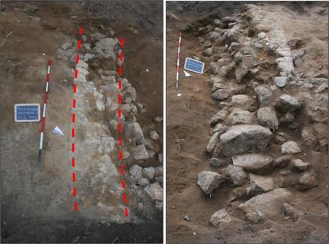 +++ANSA PROVIDES ACCESS TO THIS HANDOUT PHOTO TO BE USED SOLELY TO ILLUSTRATE NEWS REPORTING OR COMMENTARY ON THE FACTS OR EVENTS DEPICTED IN THIS IMAGE; NO ARCHIVING; NO LICENSING; NO TV+++ Una scoperta casuale che potrebbe cambiare la storia dell'archeologia: una struttura muraria, di forma ellittica, della lunghezza di 80 metri che farebbe pensare ad un anfiteatro romano destinato forse allo svolgimento di giochi tra gladiatori. E' quanto rinvenuto nelle scorse settimane, l'8 luglio, a Volterra (Pisa), sarebbe il più importante ritrovamento di un anfiteatro romano degli ultimi 100 anni. ANSA/UFFICIO STAMPA