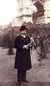 L'archeologo Giacomo Boni