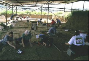 Lo scavo in località Bilancino nel Mugello in Toscana