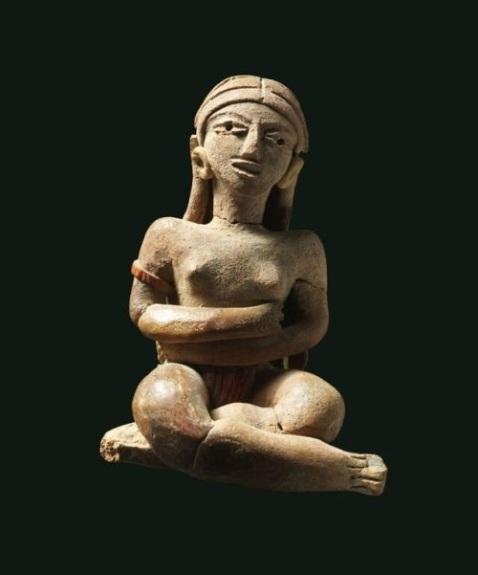Statuetta femminile seduta (Cultura Xochipala, stile Xalitla) dallo Stato di Guerrero in Messico (Preclassico medio, 900-600 a.C.)