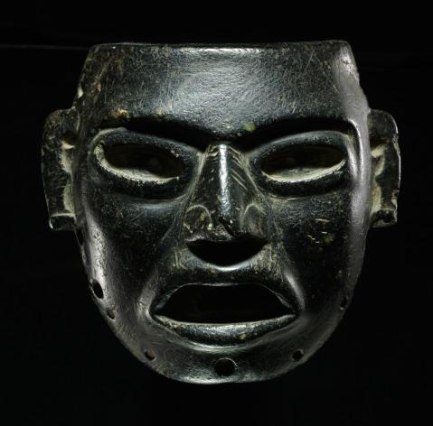 Una maschera proveniente dal Messico e portata in mostra dal centro studi e ricerche Ligabue