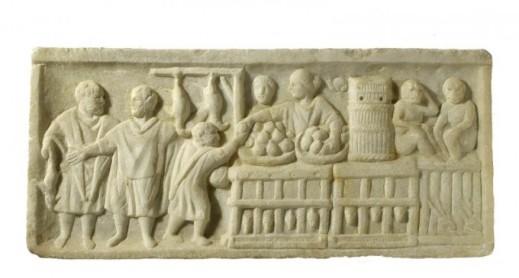 Cibo di strada: in un rilievo l'attività di un Thermopolium, la tavola calda degli antichi romani