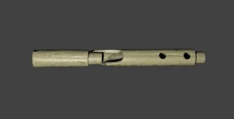 La ricostruzione 3D dell'aulos di Selinunte i cui frammenti sono stati trovati nel tempio R