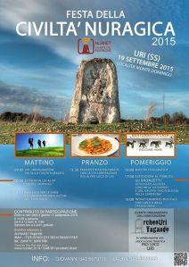 Il manifesto della Festa della civiltà nuragica a Uri