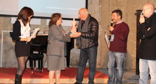 Il regista Lucio Rosa premiato alla carriera nel 2014 alla rassegna di Licodia Eubea