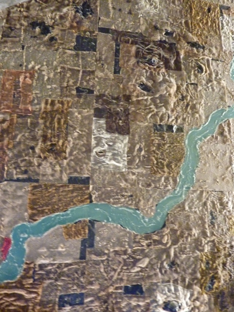 """Il """"percorso nilotico"""" che accompagna il visitatore all'inizio del viaggio nell'Antico Egitto"""