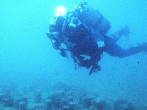 Un archeosub sul sito di una palafitta sui fondali del lago di Garda