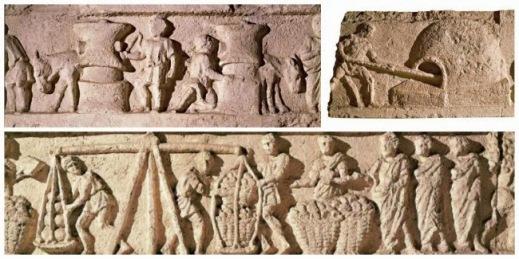 Il farro nell'antica Roma: rilievo del fornaio Marco Virgilio Eurisace