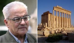 Il direttore di Palmira, Khaled Asaad, e il tempio di Baal