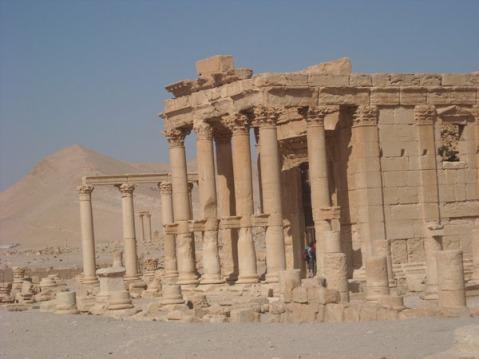 Il tempio romano di Baalshimin a Palmira prima della distruzione