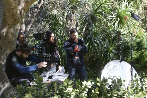 """Un momento delle riprese del film """"Tà gynaikeia. Cose di donne"""" premiato a Rovereto"""
