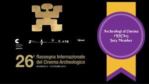"""Il logo del gruppo """"Archeologi al cinema"""" alla Rassegna del cinema archeologico di Rovereto"""