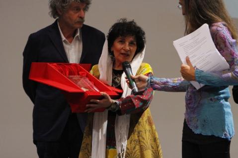 La premiazione della regista iraniana Mahvash Sheikholeslami, vincitore del concorso Paolo Orsi del 2011