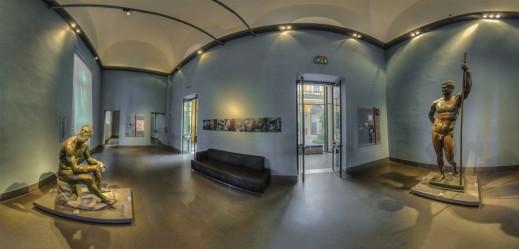 Una suggestiva immagine della sala che ospita il Pugilatore a Palazzo Massimo a Roma